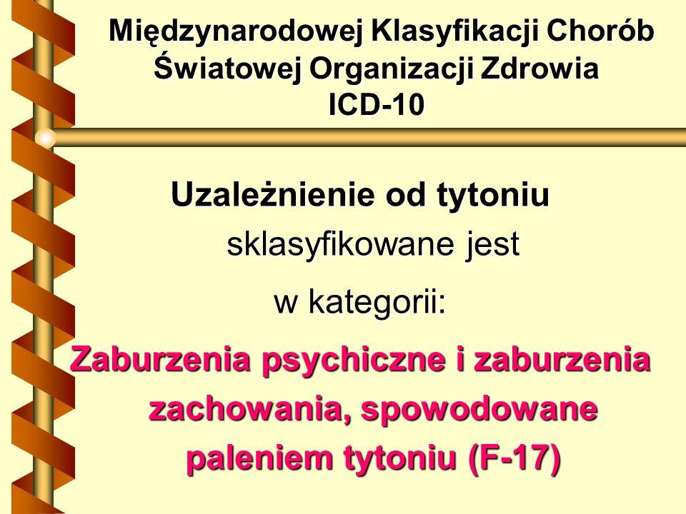 Międzynarodowej Klasyfikacji Chorób Światowej Organizacji Zdrowia ICD-10 Międzynarodowej Klasyfikacji Chorób Światowej Organizacji Zdrowia ICD-10 Uzal