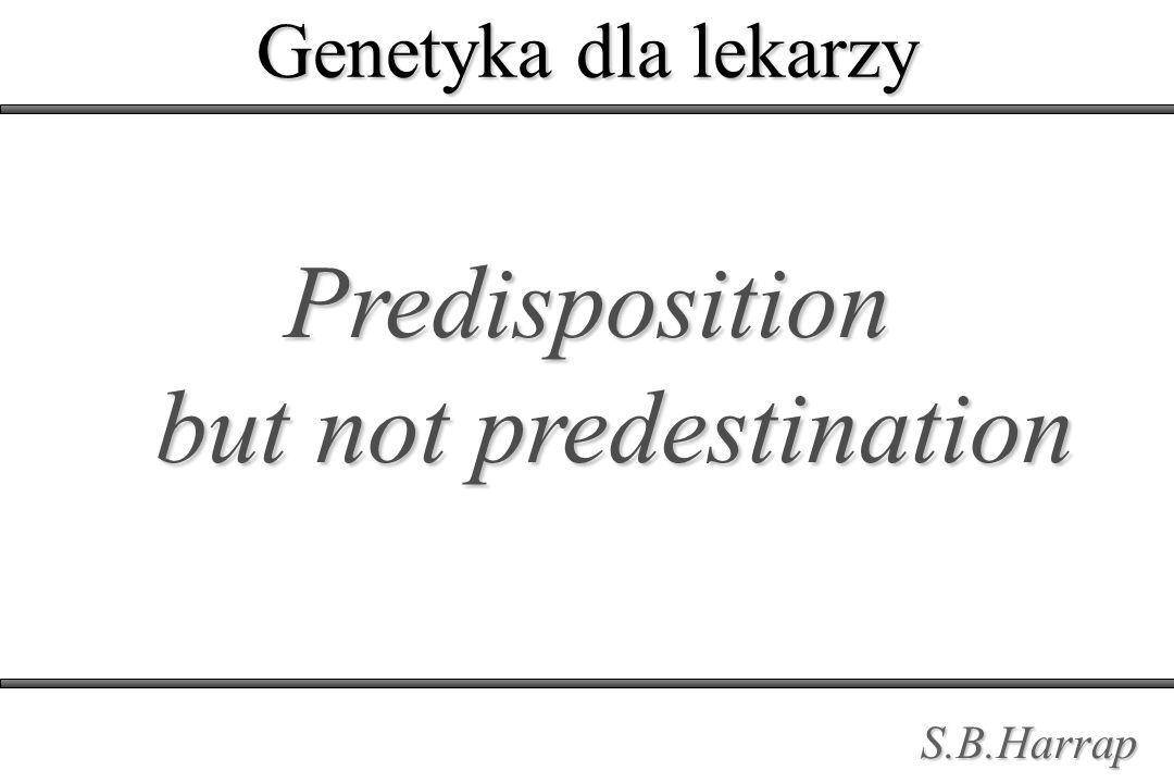Predisposition but not predestination S.B.Harrap Genetyka dla lekarzy