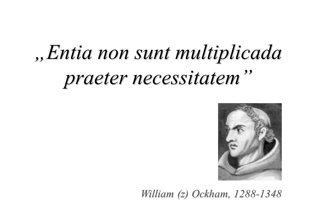 William (z) Ockham, 1288-1348 Entia non sunt multiplicada praeter necessitatem