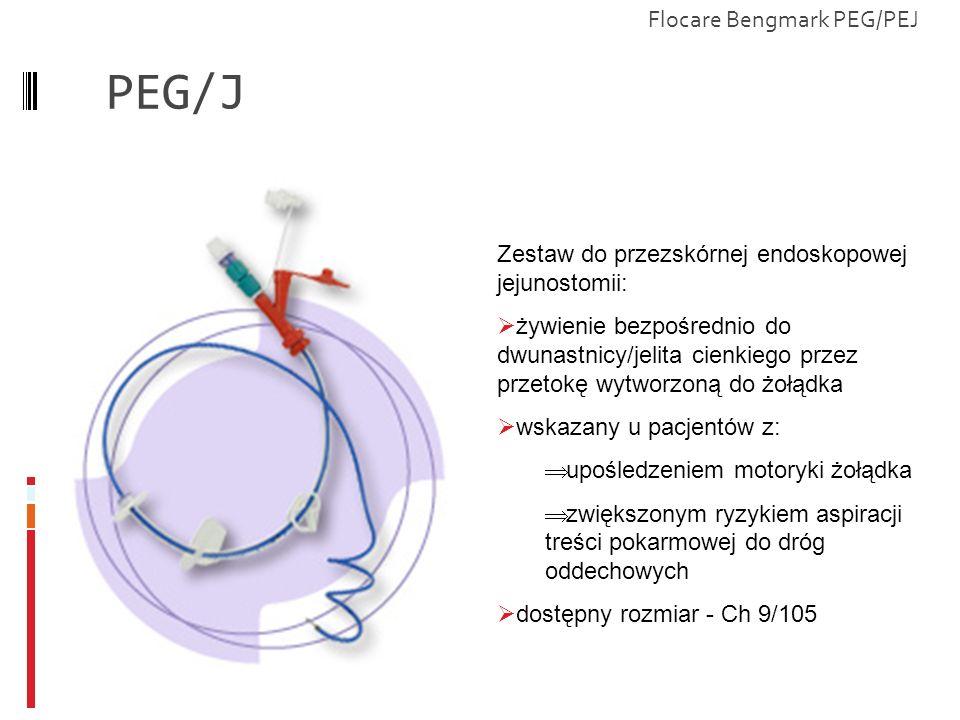 PEG/J Zestaw do przezskórnej endoskopowej jejunostomii: żywienie bezpośrednio do dwunastnicy/jelita cienkiego przez przetokę wytworzoną do żołądka wsk