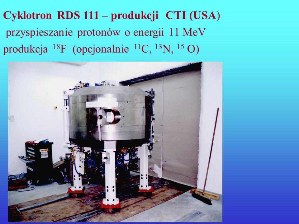 Radionuklidy powstałe w wyniku reakcji zachodzących w cyklotronach są protonowo nadmiarowe: rozpadają się poprzez emisję promieniowania +
