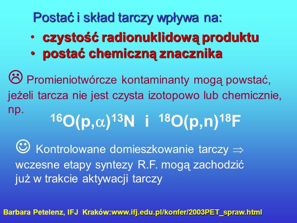 Transfer izotopu do laboratorium radiochemicznego Kapilara w osłonie ołowianej (5 cm) Moc dawki nad kapilarą w trakcie przesyłania ~ 200 Sv/h Czas prz