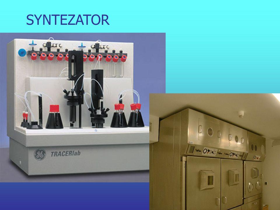 Etapy wytwarzania radiofarmaceutyku przygotowanie substratów przygotowanie substratów otrzymanie znacznika (reakcja jądrowa) otrzymanie znacznika (rea