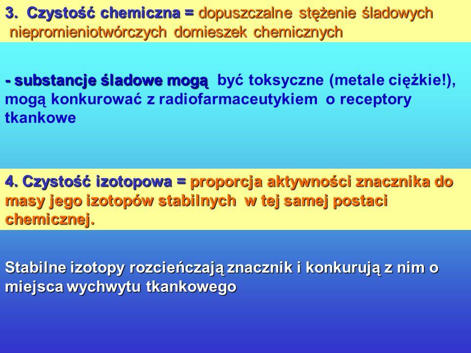 Kryteria jakości radiofarmaceutyków: 1. Czystość biologiczna = sterylność i apyrogenność. - znaczenie dla zdrowia pacjenta - sterylizacja termiczna ni