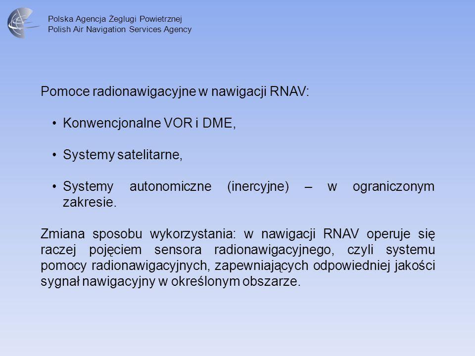 Polska Agencja Żeglugi Powietrznej Polish Air Navigation Services Agency Pomoce radionawigacyjne w nawigacji RNAV: Konwencjonalne VOR i DME, Systemy s