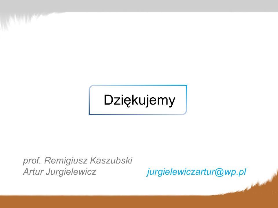 Dziękujemy prof. Remigiusz Kaszubski Artur Jurgielewicz jurgielewiczartur@wp.pl
