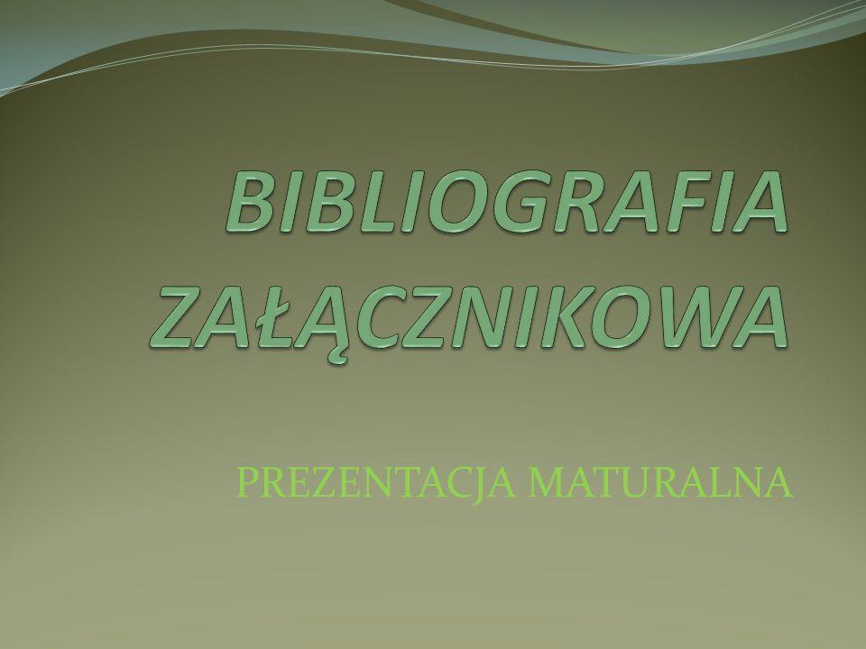 WYKAZ I PORZĄDEK ELEMENTÓW wszystkie typy dokumentów (zmiany) Autor Tytuł [Nośnik] (ob.