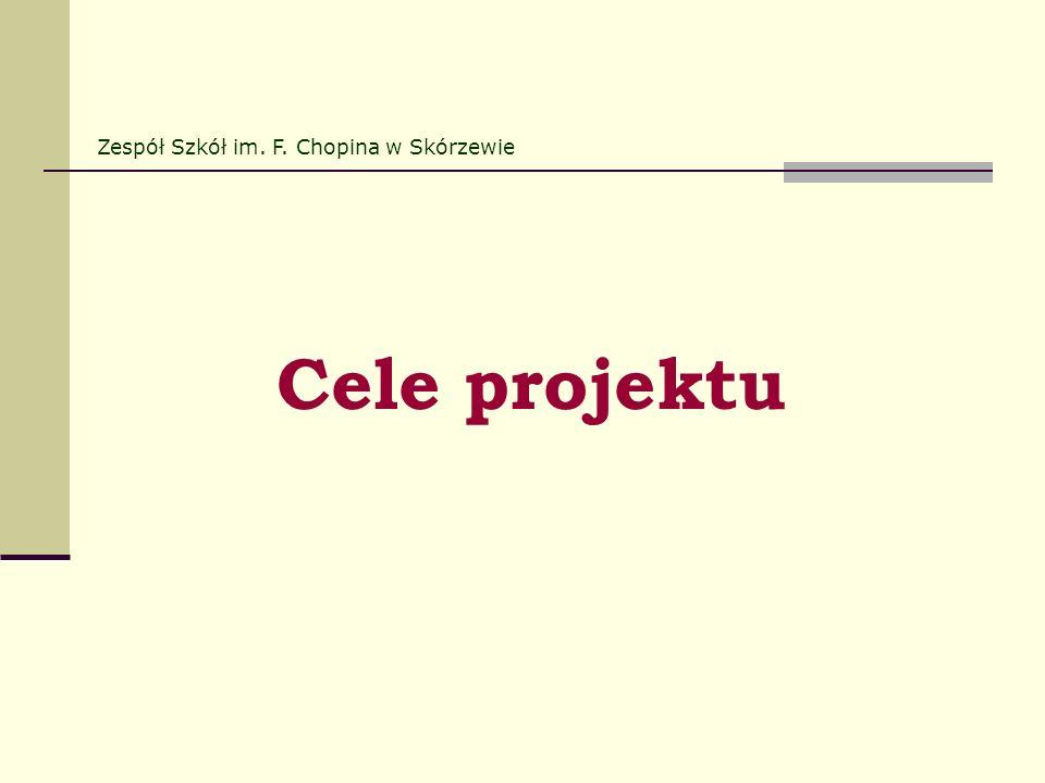 Cele projektu Zespół Szkół im. F. Chopina w Skórzewie