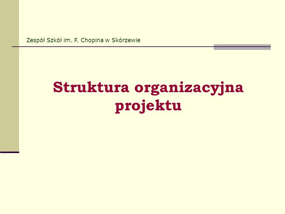 Struktura organizacyjna projektu Zespół Szkół im. F. Chopina w Skórzewie