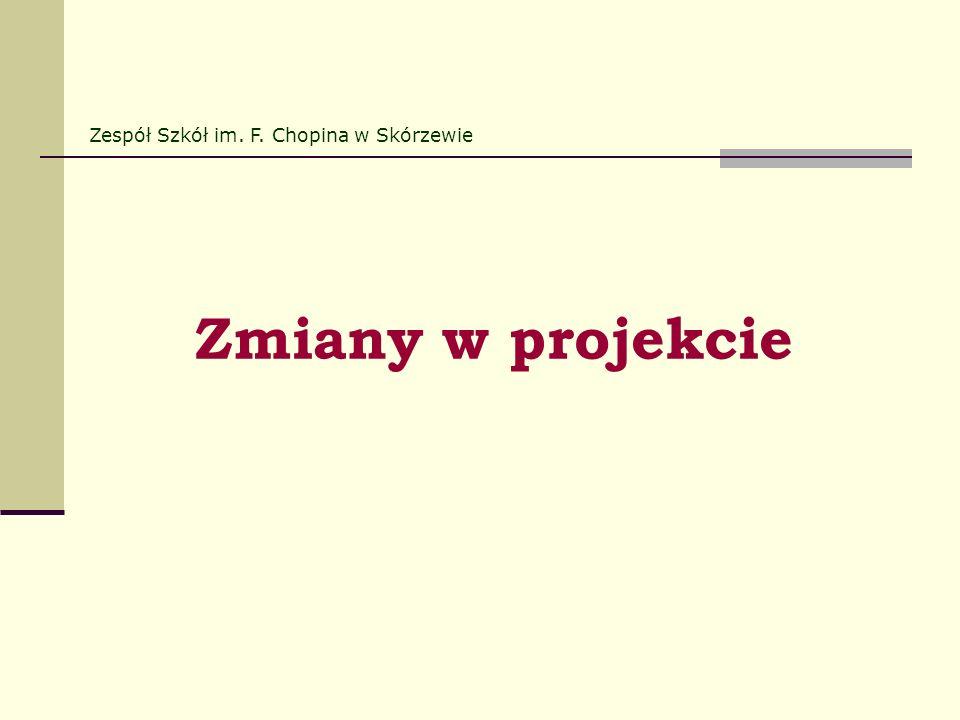 Zmiany w projekcie Zespół Szkół im. F. Chopina w Skórzewie