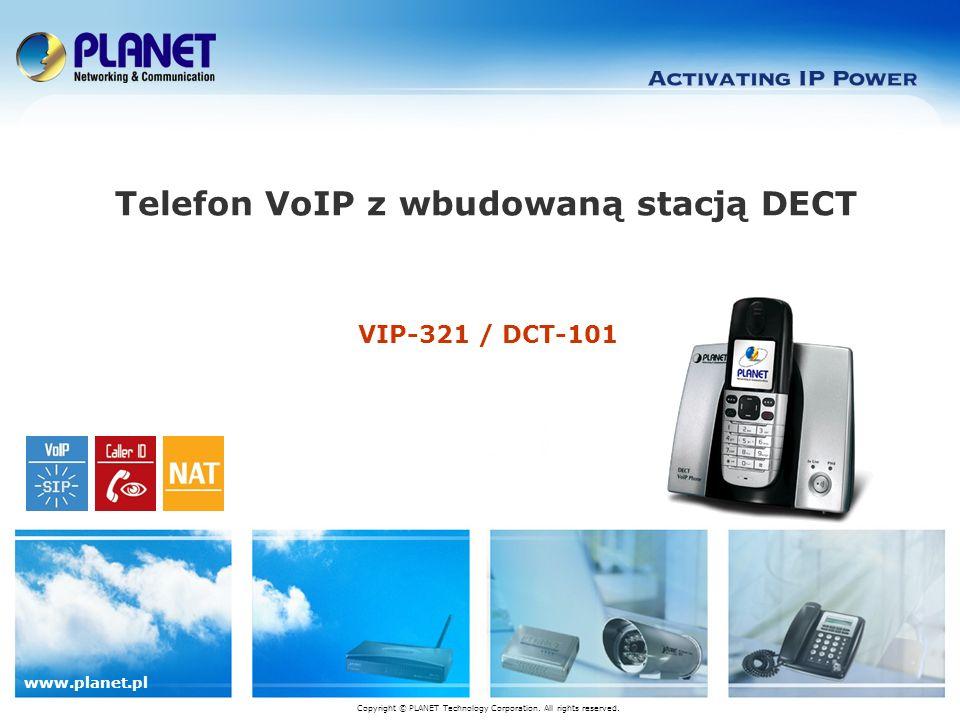 www.planet.com.tw 12 / 18 Podstawowe funkcje Przyjazny sieciowy interfejs konfiguracji Strona główna Konfiguracja Konfiguracja sieci Konfiguracja konta SIP Status rejestracji i ustawienia pokrewe