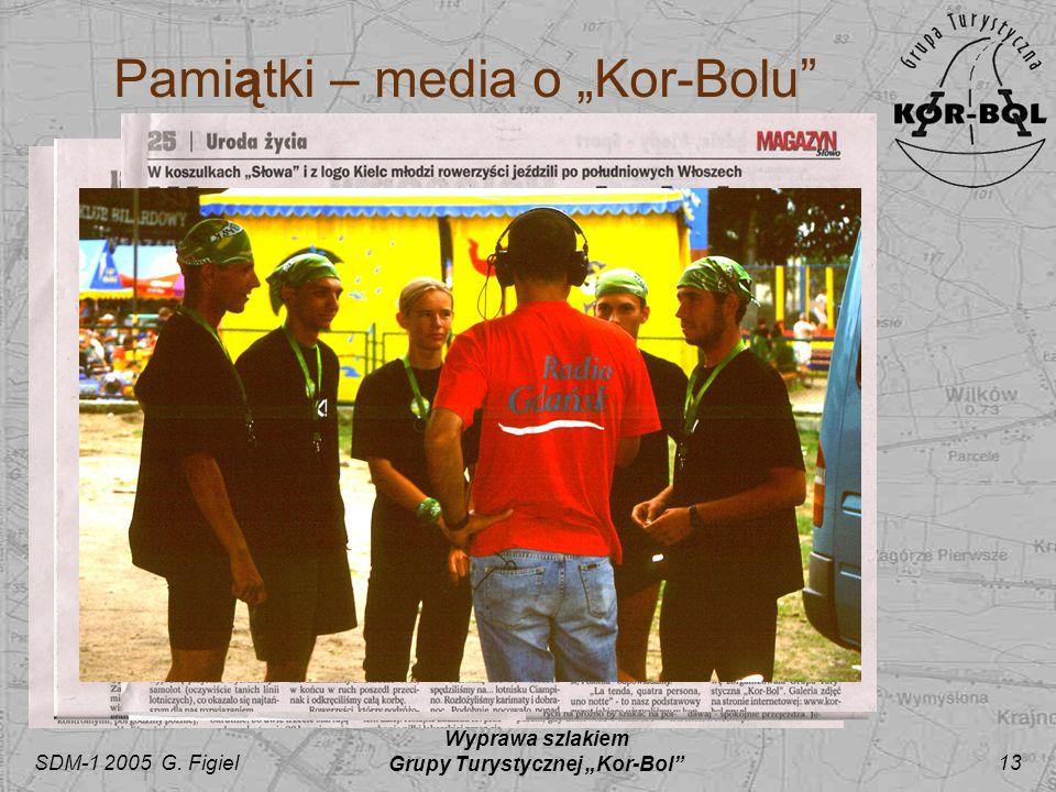 SDM-1 2005 G. Figiel Wyprawa szlakiem Grupy Turystycznej Kor-Bol 13 Pamiątki – media o Kor-Bolu