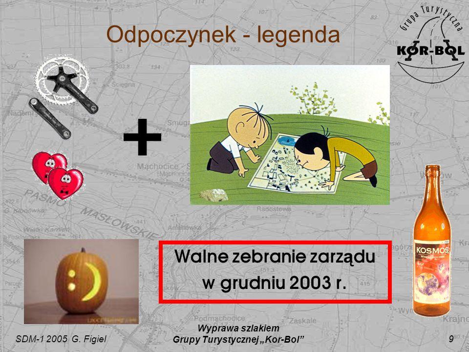 SDM-1 2005 G. Figiel Wyprawa szlakiem Grupy Turystycznej Kor-Bol 9 Walne zebranie zarz ą du w grudniu 2003 r. Odpoczynek - legenda