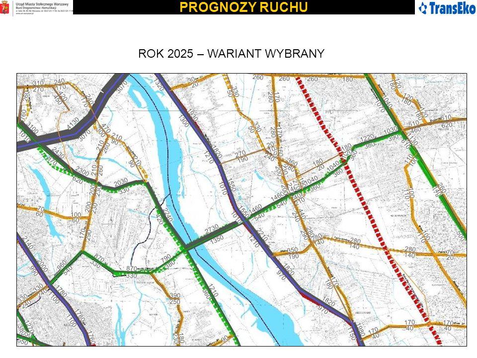 PROGNOZY RUCHU ROK 2025 – WARIANT WYBRANY