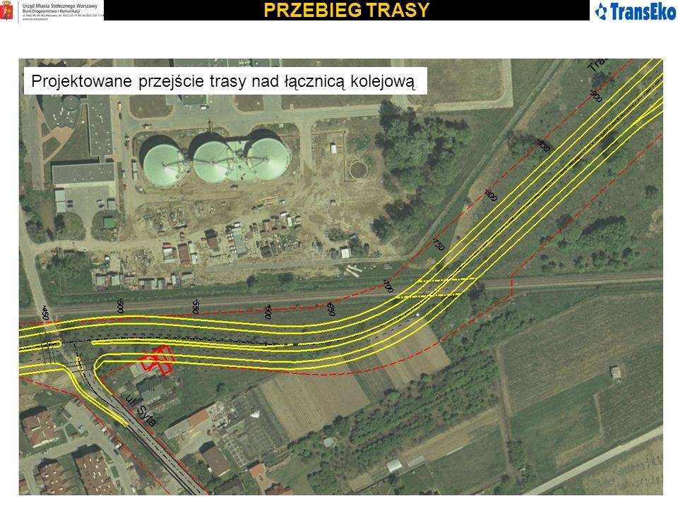 PRZEBIEG TRASY Projektowane przejście trasy nad łącznicą kolejową