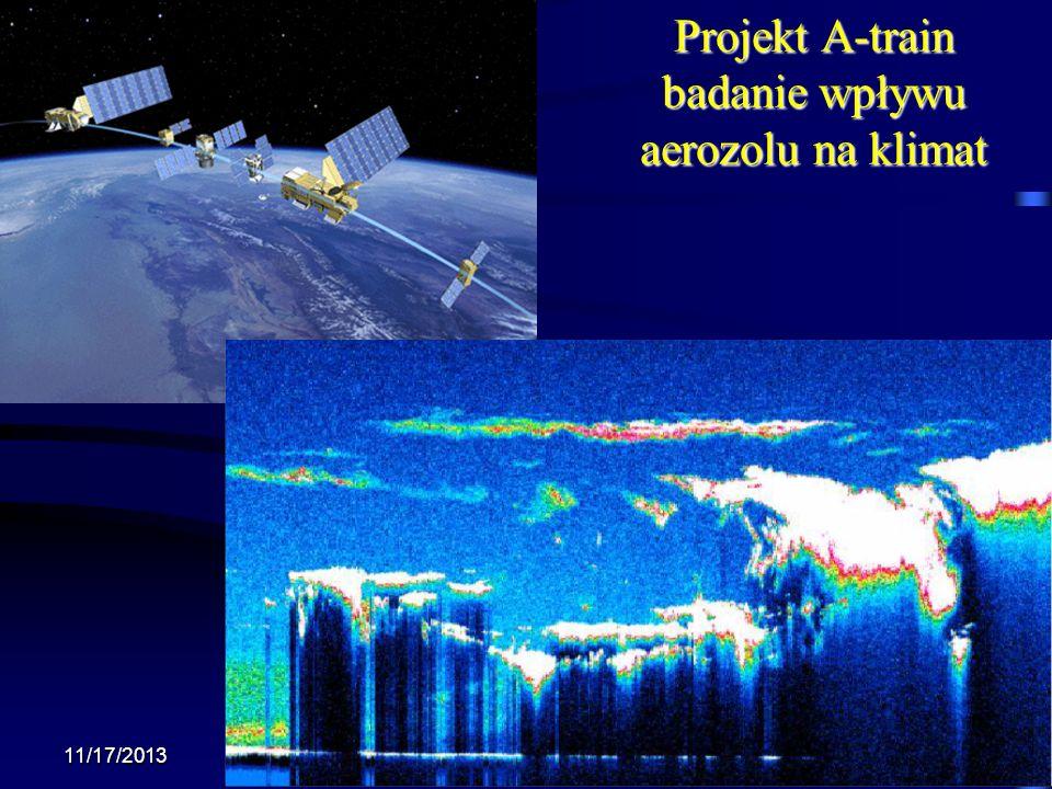 Projekt A-train badanie wpływu aerozolu na klimat 11/17/2013 Krzysztof Markowicz kmark@igf.fuw.edu.pl