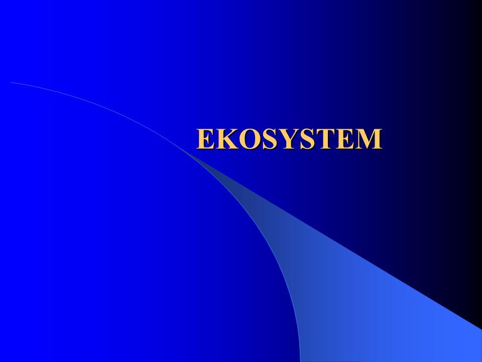 Ekosystem to układ ekologiczny, który obejmuje wszystkie żywe organizmy żyjące na danym obszarze, współdziałające ze środowiskiem nieożywionym, w taki sposób, że przepływ energii i krążenie materii prowadzą do powstania wyraźnego zróżnicowania biotycznego na wszystkich poziomach troficznych.