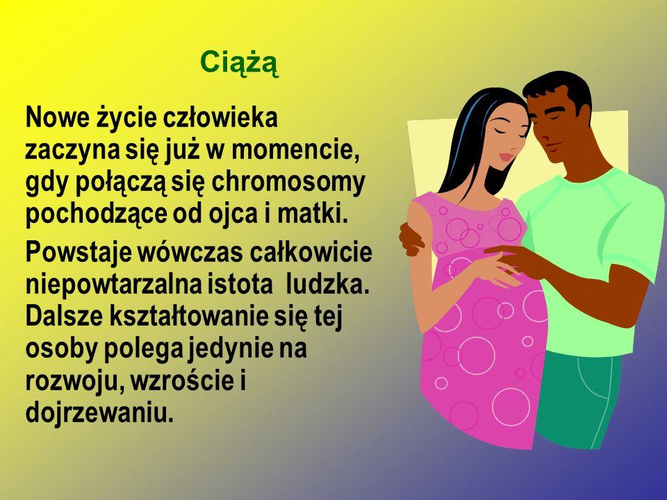 Ciążą Nowe życie człowieka zaczyna się już w momencie, gdy połączą się chromosomy pochodzące od ojca i matki. Powstaje wówczas całkowicie niepowtarzal