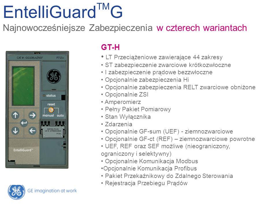 EntelliGuard TM G Najnowocześniejsze Zabezpieczenia w czterech wariantach GT-E LT z 22 zakresami ST zabezpieczenie Amperomierz Stan Wyłącznika Zdarzen