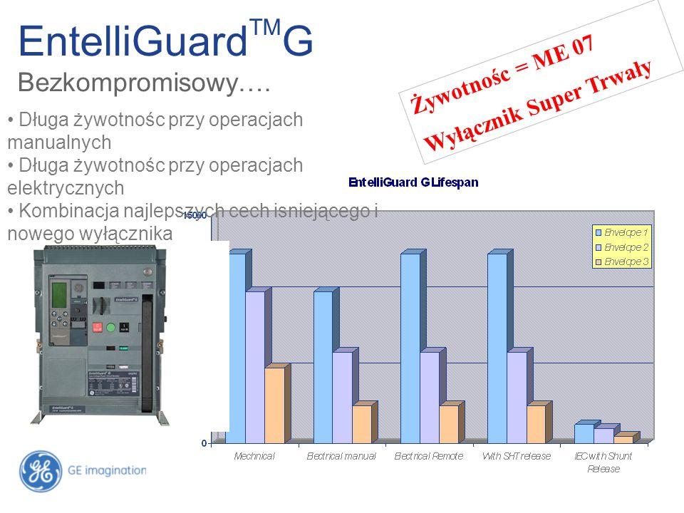 EntelliGuard TM G Bezkompromisowy…. Żywotnośc = ME 07 Wyłącznik Super Trwały Długa żywotnośc przy operacjach manualnych Długa żywotnośc przy operacjac