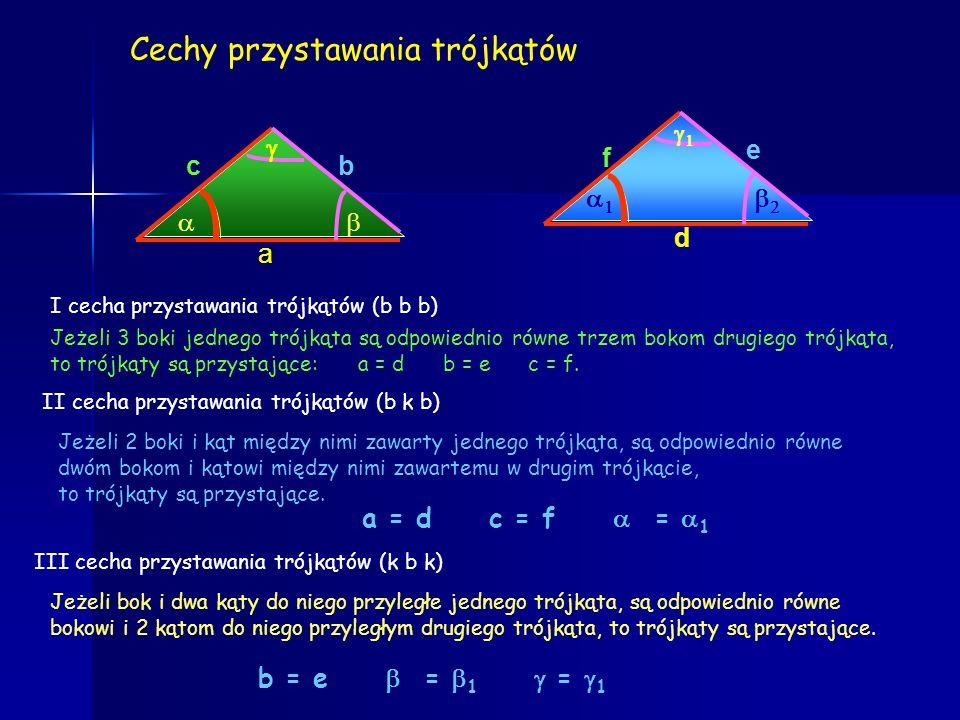 Środkowa trójkąta A C B.D.D środkowa W trójkącie możemy poprowadzić 3 środkowe. Przecinają się one w jednym punkcie, który nazywamy środkiem ciężkości