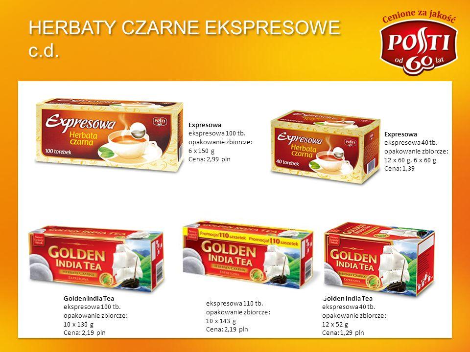 HERBATY CZARNE EKSPRESOWE c.d.Expresowa Dla całej rodziny ekspresowa 80 tb.