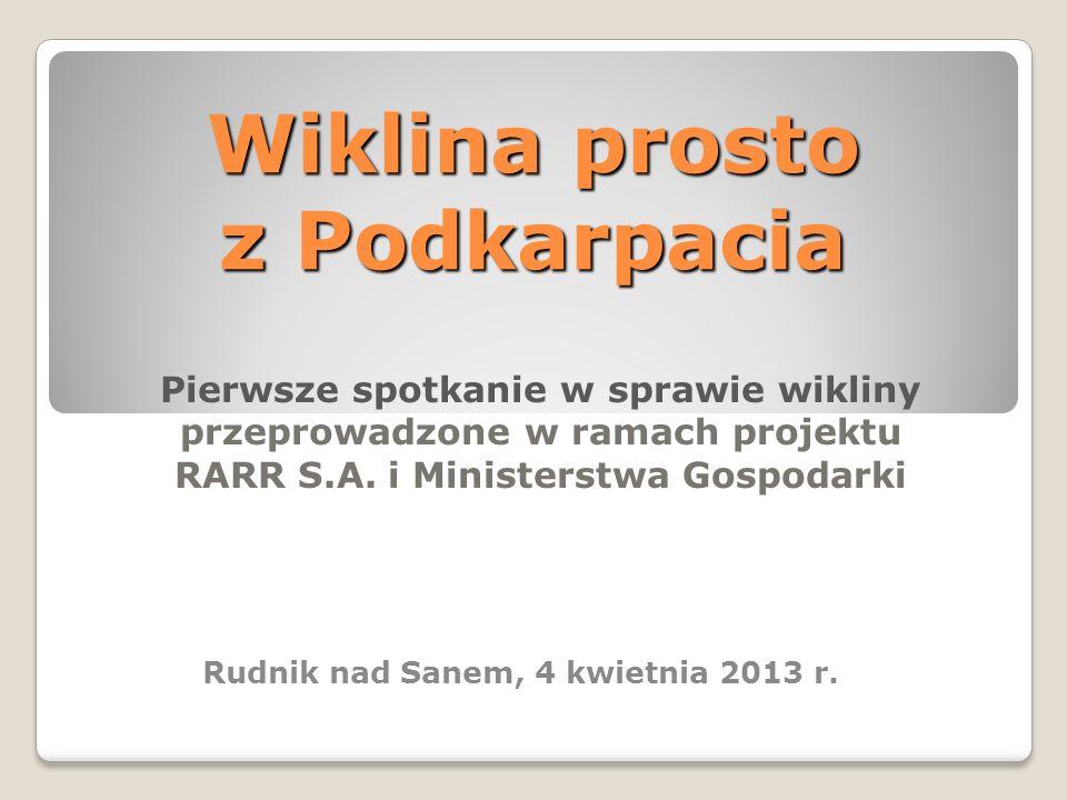 Wiklina prosto z Podkarpacia Pierwsze spotkanie w sprawie wikliny przeprowadzone w ramach projektu RARR S.A. i Ministerstwa Gospodarki Rudnik nad Sane