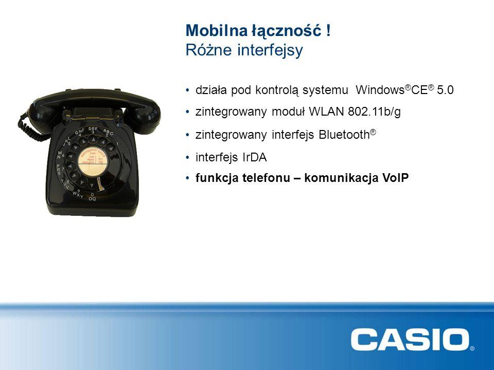 Różne interfejsy działa pod kontrolą systemu Windows ® CE ® 5.0 Mobilna łączność .