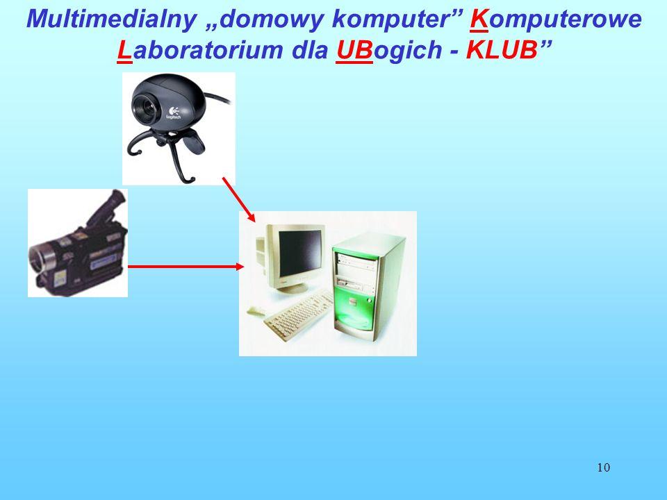 10 Multimedialny domowy komputer Komputerowe Laboratorium dla UBogich - KLUB