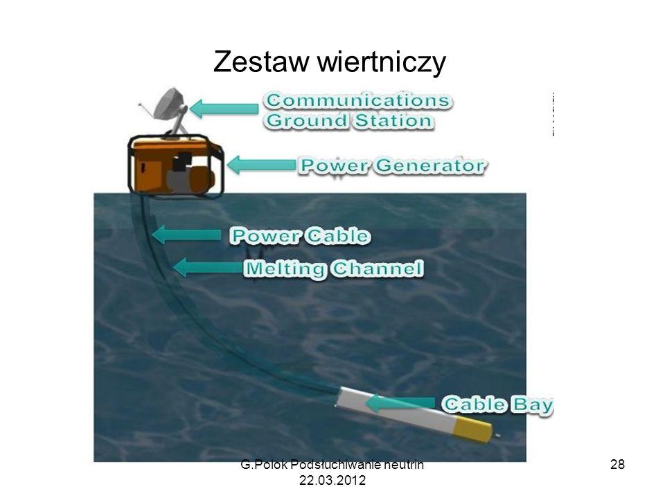 Zestaw wiertniczy G.Polok Podsłuchiwanie neutrin 22.03.2012 28