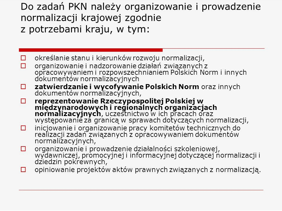 Normy opracowane przez ISO TC 46 – 2000-2010 (8) ISO 17933:2000 GEDI -- Generic Electronic Document Interchange ISO 20775:2009 Information and documentation -- Schema for holdings information ISO 21047:2009 Information and documentation -- International standard Text Code (ISTC) ISO 21127:2006 Information and documentation -- A reference ontology for the interchange of cultural heritage information ISO/TR 21449:2004 Content Delivery and Rights Management: Functional requirements for identifiers and descriptors for use in the music, film, video, sound recording and publishing industries