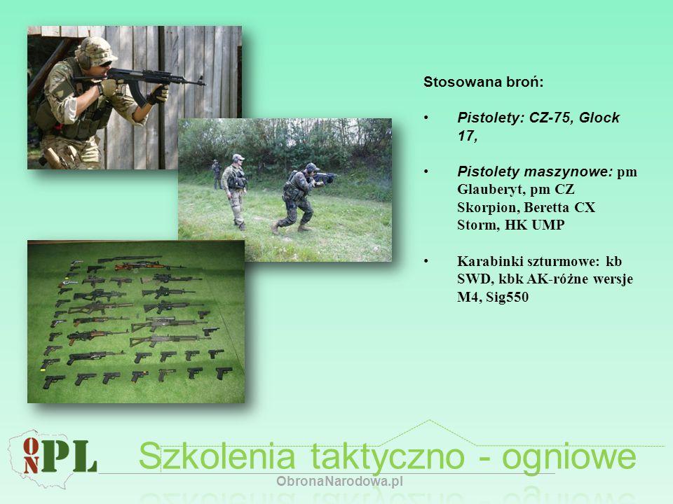 Stosowana broń: Pistolety: CZ-75, Glock 17, Pistolety maszynowe: pm Glauberyt, pm CZ Skorpion, Beretta CX Storm, HK UMP Karabinki szturmowe: kb SWD, k