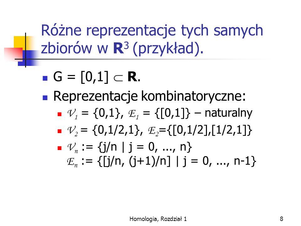 Homologia, Rozdział 19 Różne reprezentacje grafów a niezmienność homologii.