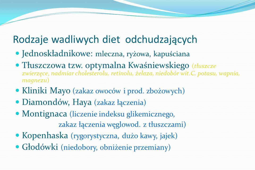Porównanie składu diet (% energii) TłuszczBiałkoWęglowod Ornish 10 18 72 DASH (Dietary Approch.