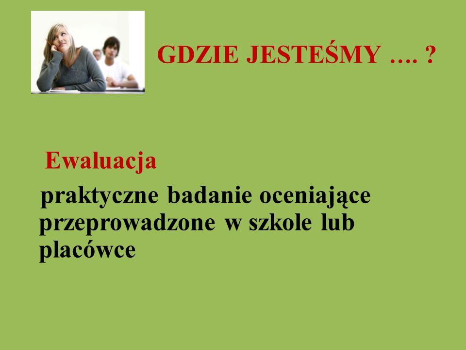 Ewaluacja zewnętrzna w województwie podkarpackim w roku szkolny 2009/10 Ewaluacja całościowa - 4 (PP, SP, G, T).
