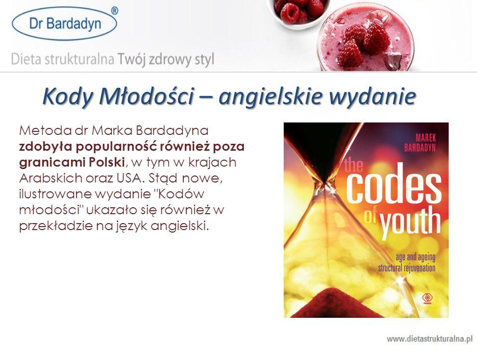Kody Młodości – angielskie wydanie Metoda dr Marka Bardadyna zdobyła popularność również poza granicami Polski, w tym w krajach Arabskich oraz USA. St