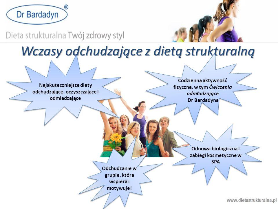Najskuteczniejsze diety odchudzające, oczyszczające i odmładzające Wczasy odchudzające z dietą strukturalną Codzienna aktywność fizyczna, w tym Ćwicze