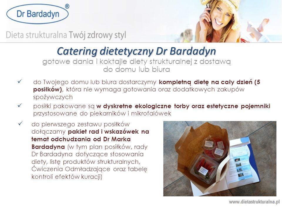 Catering dietetyczny Dr Bardadyn gotowe dania i koktajle diety strukturalnej z dostawą do domu lub biura do Twojego domu lub biura dostarczymy komplet