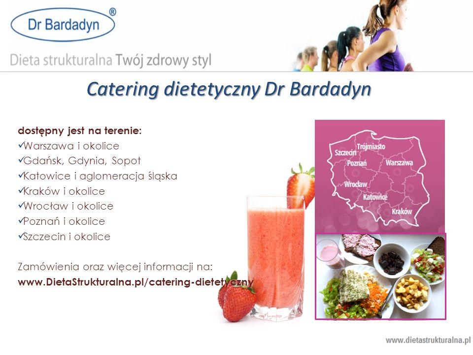 Catering dietetyczny Dr Bardadyn dostępny jest na terenie: Warszawa i okolice Gdańsk, Gdynia, Sopot Katowice i aglomeracja śląska Kraków i okolice Wro