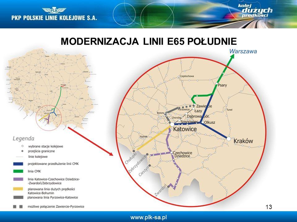 www.plk-sa.pl 13 MODERNIZACJA LINII E65 POŁUDNIE