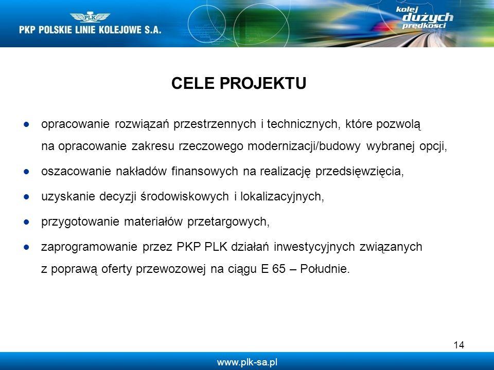 www.plk-sa.pl opracowanie rozwiązań przestrzennych i technicznych, które pozwolą na opracowanie zakresu rzeczowego modernizacji/budowy wybranej opcji,