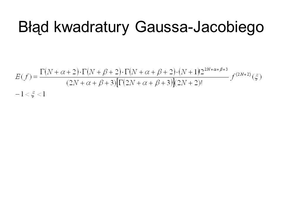 Błąd kwadratury Gaussa-Jacobiego