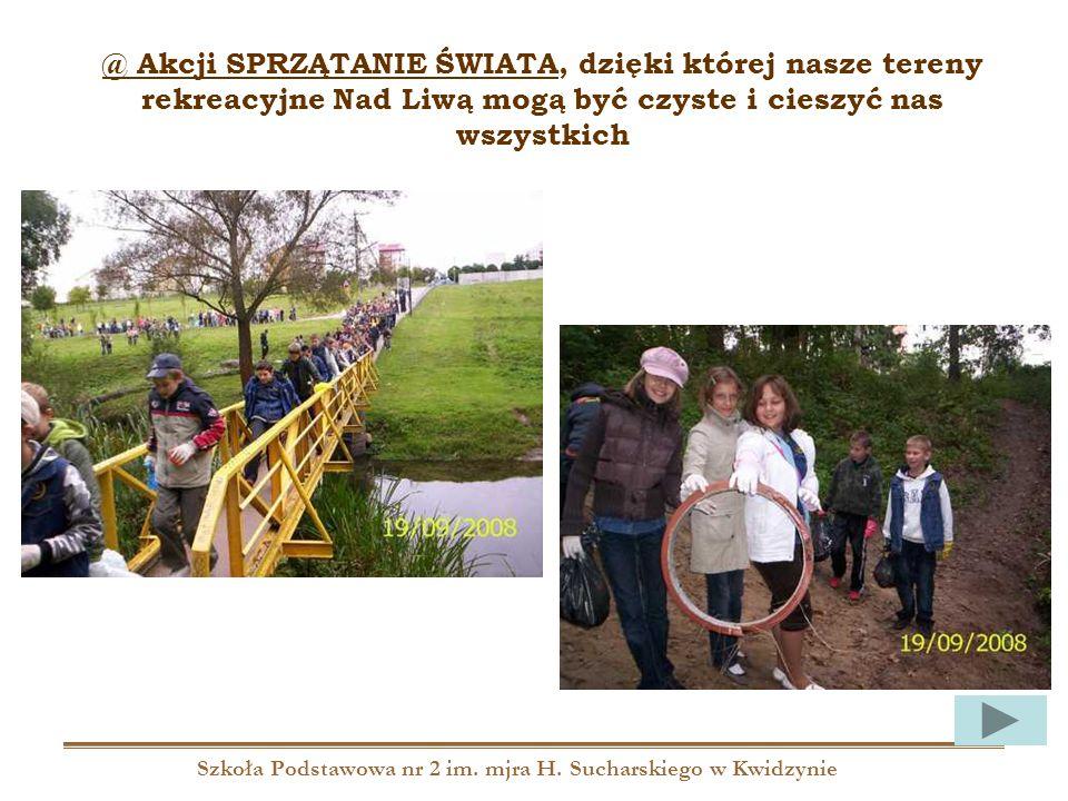 Szkoła Podstawowa nr 2 im. mjra H. Sucharskiego w Kwidzynie @ Akcji SPRZĄTANIE ŚWIATA, dzięki której nasze tereny rekreacyjne Nad Liwą mogą być czyste
