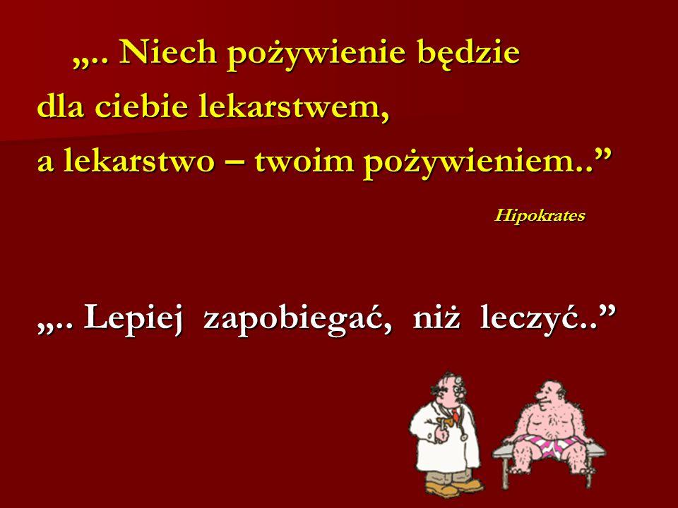 .. Niech pożywienie będzie.. Niech pożywienie będzie dla ciebie lekarstwem, a lekarstwo – twoim pożywieniem.. Hipokrates Hipokrates.. Lepiej zapobiega