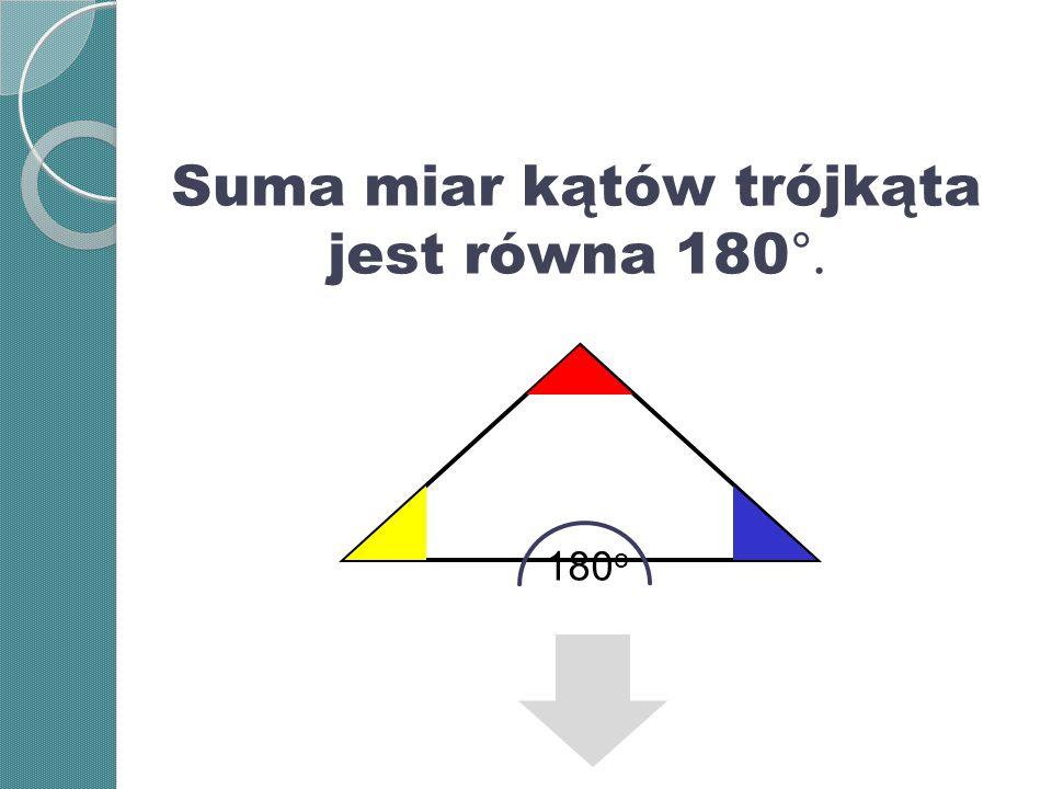 Trójkąt wpisany w okrąg Na każdym trójkącie można opisać okrąg.