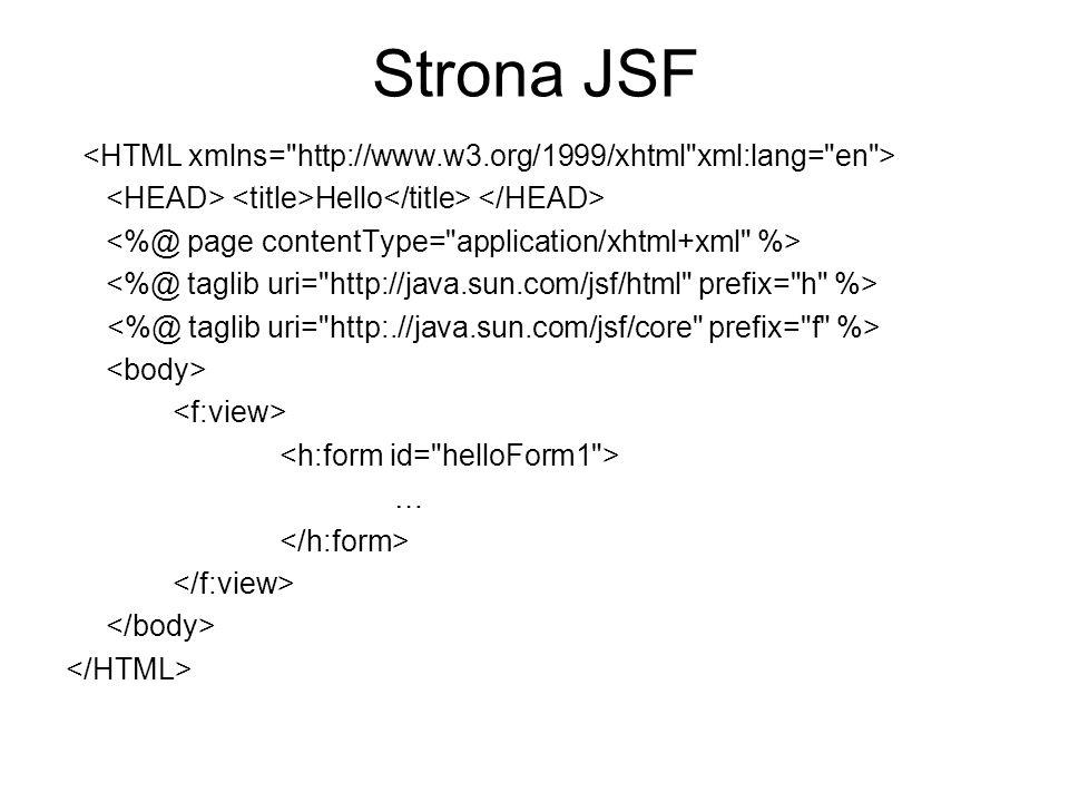 Strona JSF Hello …