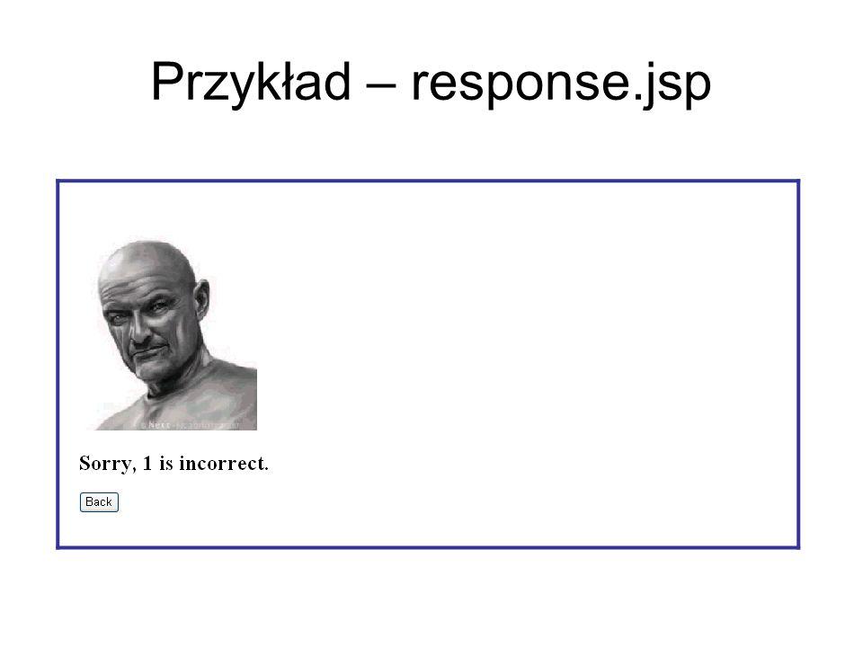Przykład – response.jsp