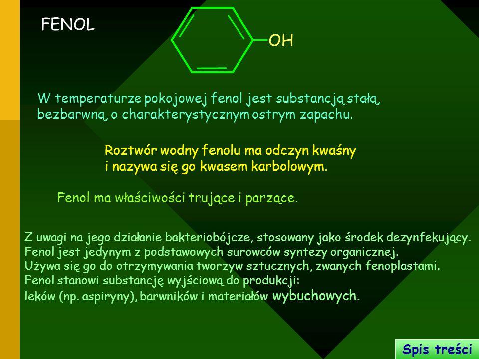 Z uwagi na jego działanie bakteriobójcze, stosowany jako środek dezynfekujący. Fenol jest jedynym z podstawowych surowców syntezy organicznej. Używa s