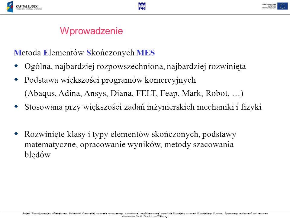 Projekt Rozwój potencjału dydaktycznego Politechniki Krakowskiej w zakresie nowoczesnego budownictwa współfinansowany przez Unię Europejską w ramach Europejskiego Funduszu Społecznego realizowany pod nadzorem Ministerstwa Nauki i Szkolnictwa Wyższego WAŻONY FUNKCJONAŁ BŁĘDU gdzie skąd Aproksymacja MWLS Pseudo - funkcja kształtu Aproksymacja MWLS Macierz wzorów różnicowych M q