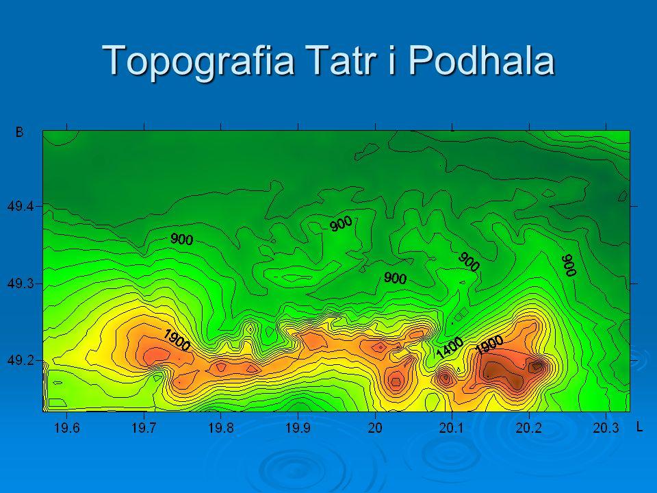 Topografia Tatr i Podhala